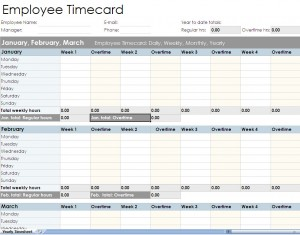 Free Employee timesheet spreadsheet form