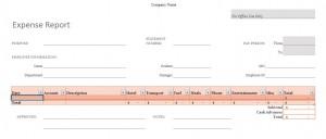 Excel Expense report Management