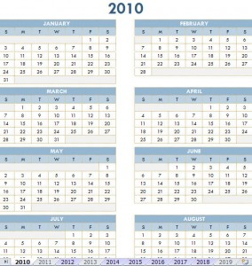 free calendar for year 2010