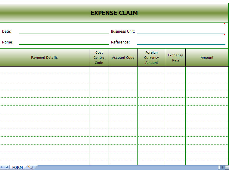 Reimbursement Form Template. Request For Reimbursement Form Forms