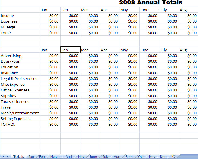 Expense Report Template For Excel – Personal Monthly Expense Report Template