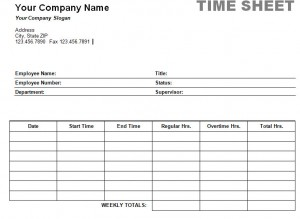 Printable Weekly Time Sheet  Microsoft Templates Timesheet