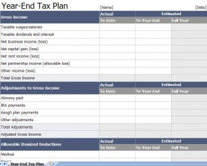 excel tax return workpapers preparation templates