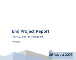 end project report