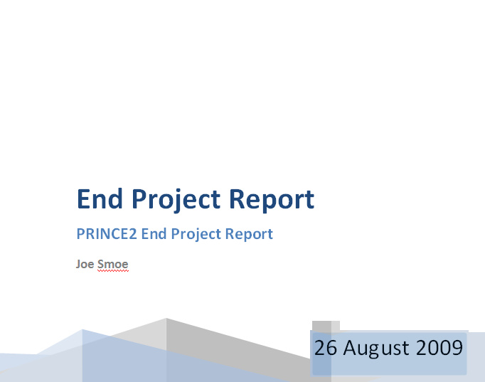 prince2 end project report