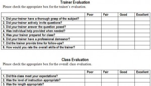 Nice Training Evaluation Form Template