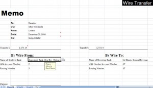 wire transfer template
