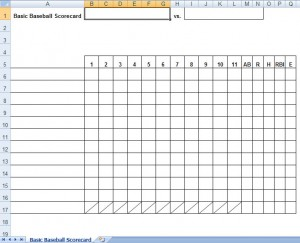 baseball lineup card template word