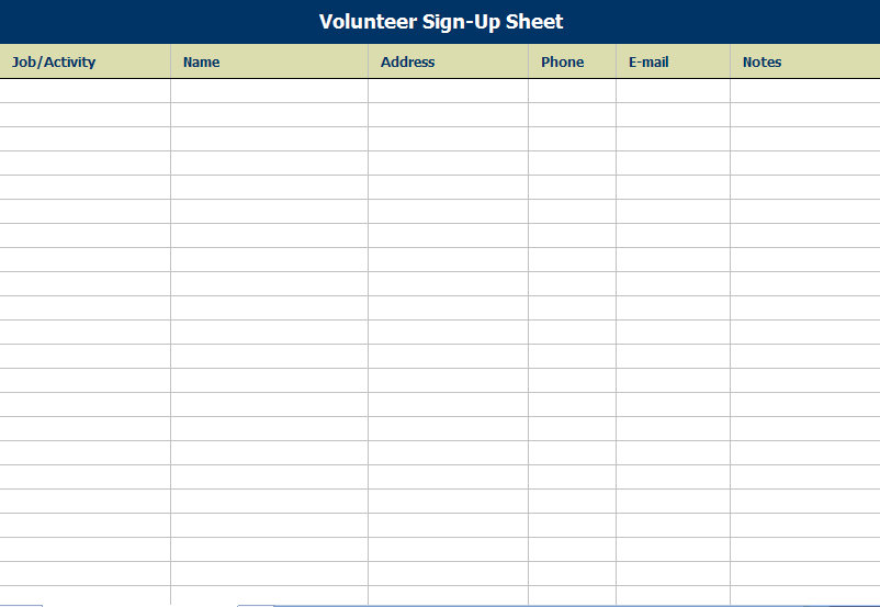Doc569769 Sign in Templates Printable Sign In Sheet 91 – Blank Sign in Sheet