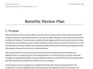 Prince2 Benefits Review Plan