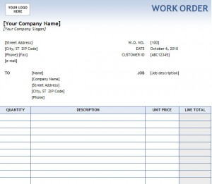 works order template