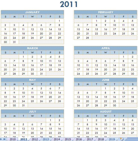 Free Annual Calendar  Free Annual Calendars
