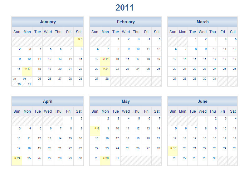 2011 printable one page excel calendar template 2011 one page calendar