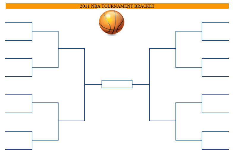 picture about Nba Playoff Printable Bracket identified as 2016 Printable PDF NBA Basketball Event Bracket pdf