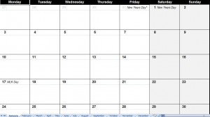 2011 calendar templates with holidays