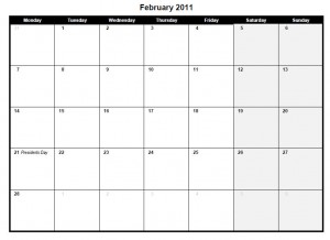 printable pdf february 2011 calendar