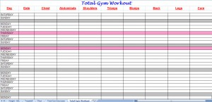 total gym workout plan