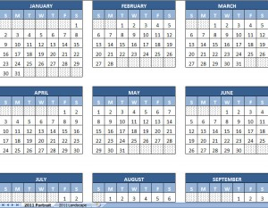 2011 printable calendar yearly