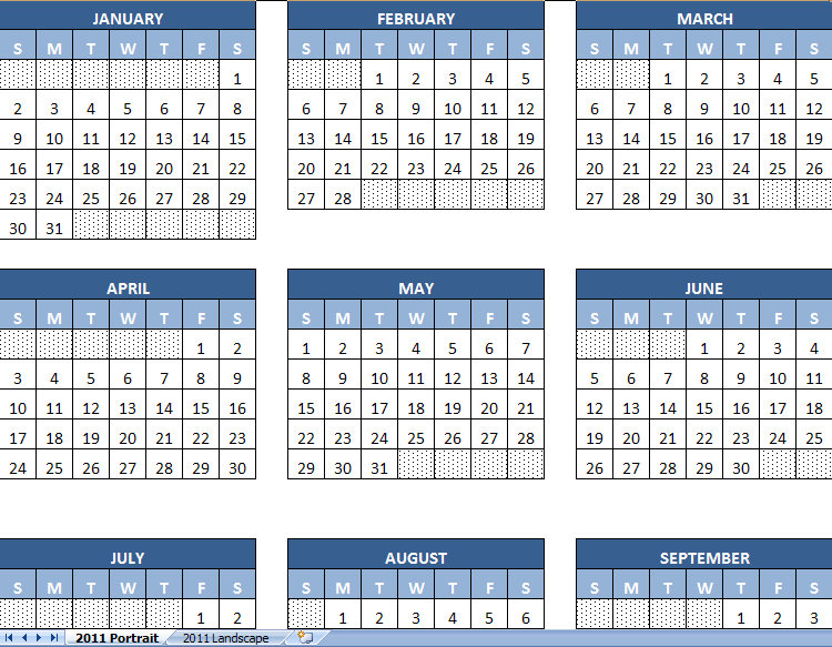 2011 Printable Calendar Yearly | 2011 Printable Yearly Calendar