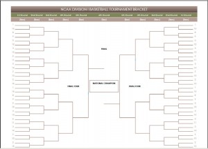 2016 Printable Blank PDF NCAA Basketball Bracket Printout