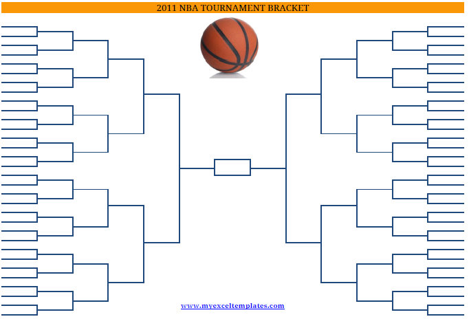 Basketball Bracket Template  EnderRealtyparkCo