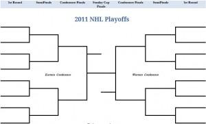 2011 Printable PDF NHL Stanley Cup Playoffs Bracket