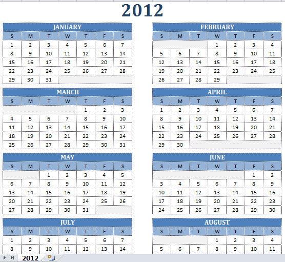 2012 calendar microsoft office 2003 download free software