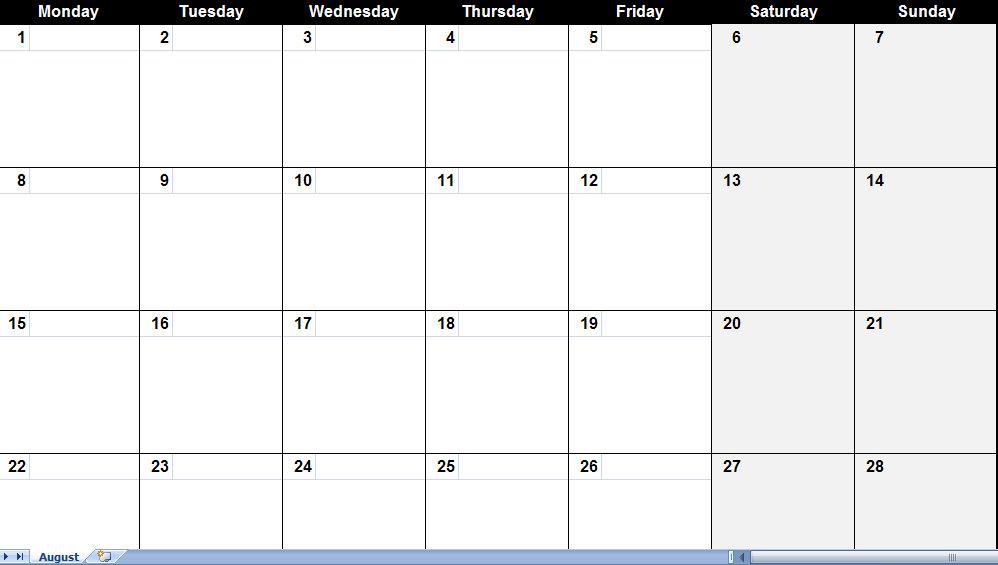 August 2011 Calendar | August 2011 Calendar Printable