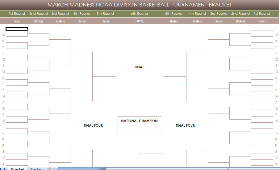 photo about Printable March Madness Bracket titled No cost Printable March Insanity NCAA Brackets printable cost-free