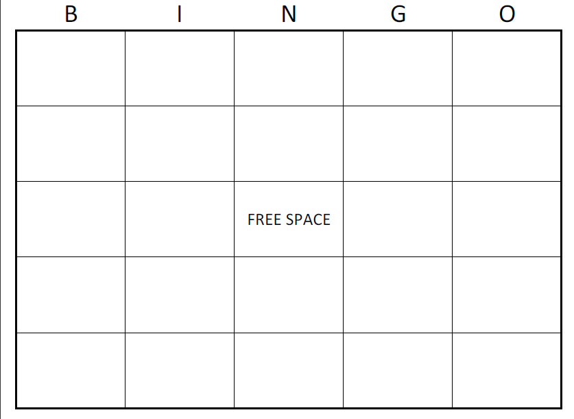large printable blank bingo cards | printable blank bingo cards, Powerpoint templates