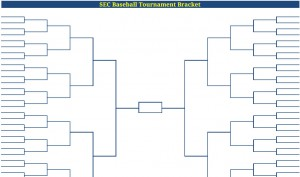 photo relating to Printable Tournament Brackets titled Printable Blank PDF SEC Baseball Match Bracket sec