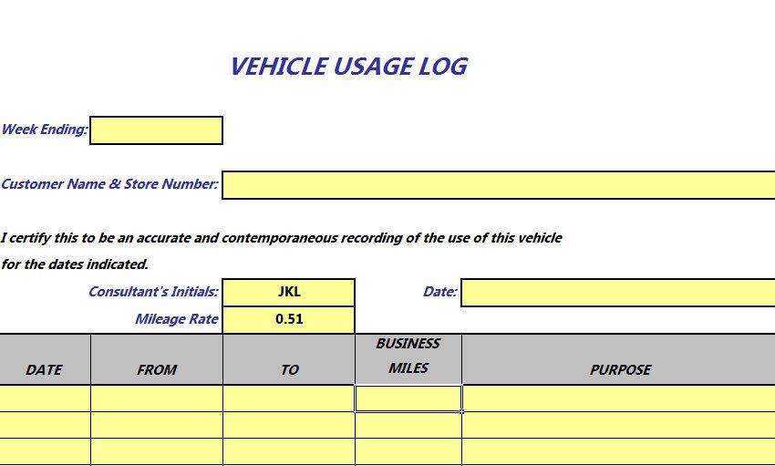 gas mileage excel spreadsheet