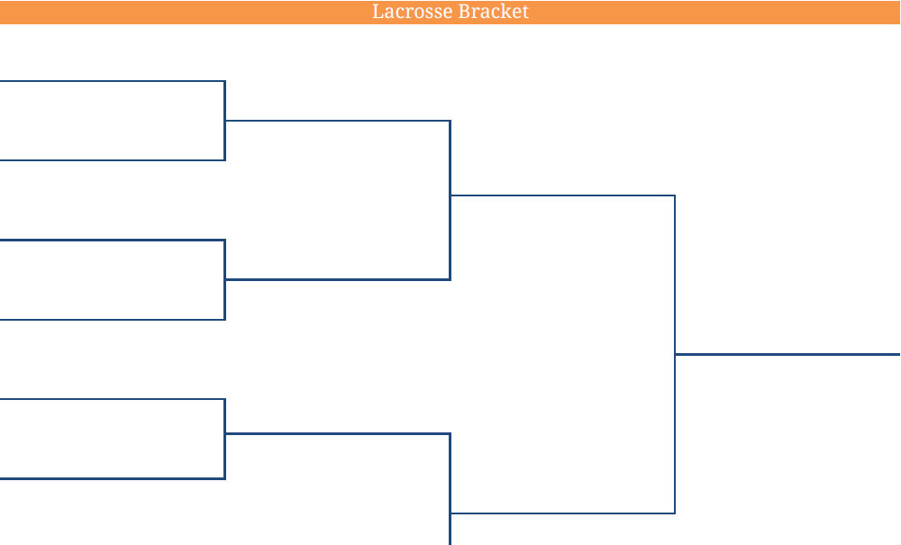 2011 Printable Blank PDF NCAA Lacrosse Bracket