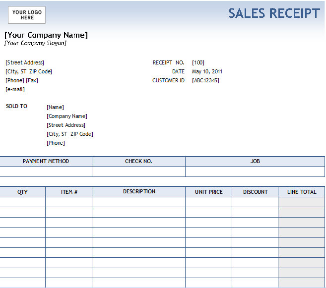 sample invoices excel