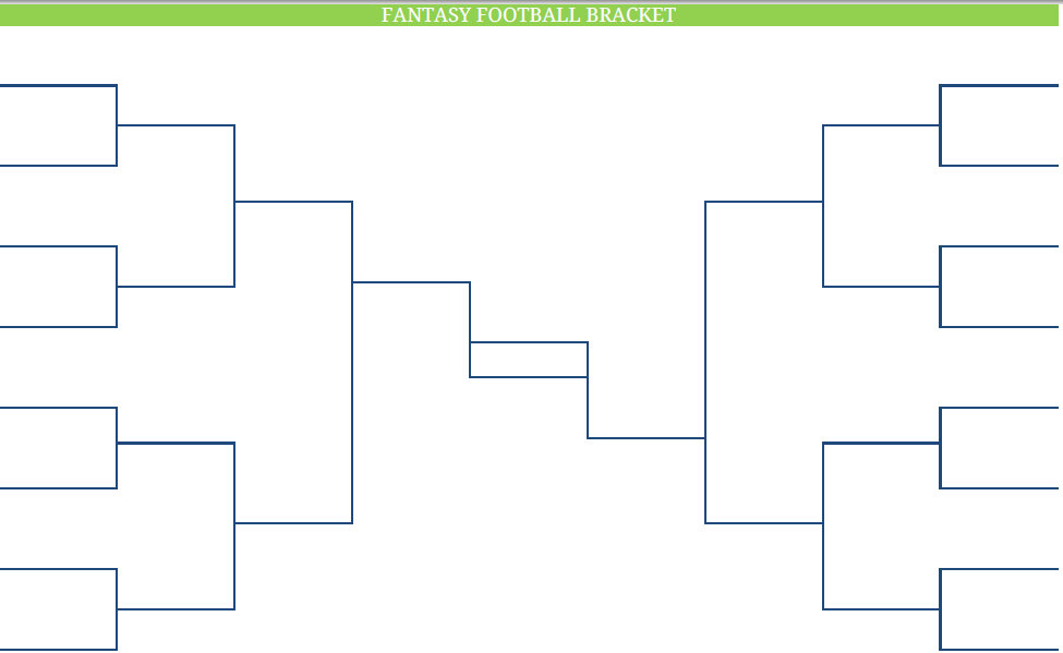 Blank route template word white gold for Game brackets templates