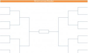 Printable PDF NCAA Lacrosse Playoffs Bracket