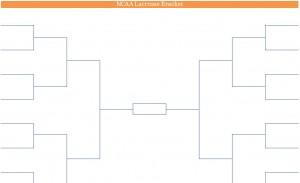 Printable PDF NCAA Lacrosse Playoffs Bracket