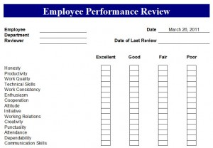 employee performance tracking spreadsheet