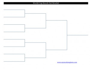 2011 printable blank FIFA World Cup soccer football bracket