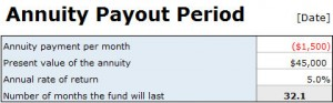 annuity payout calculator