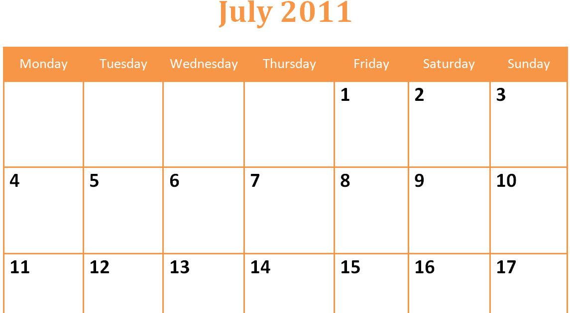 Blank Monthly Calendar Pdf : Printable blank pdf july monthly calendar