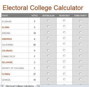 electoral college tracking calculator