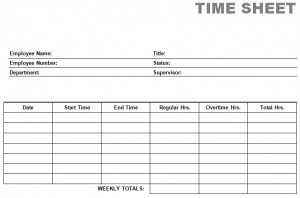 Printable Blank PDF Time Card Time Sheets  Printable Time Card Template