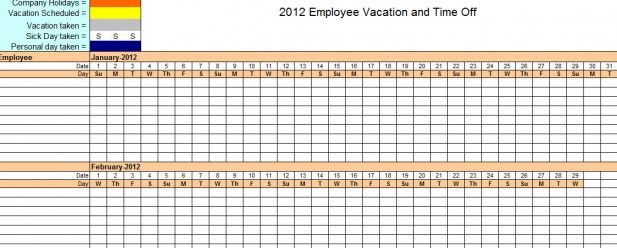 vacation tracker template