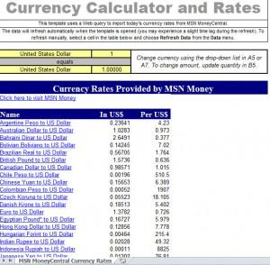 printable excel currency converter calculator