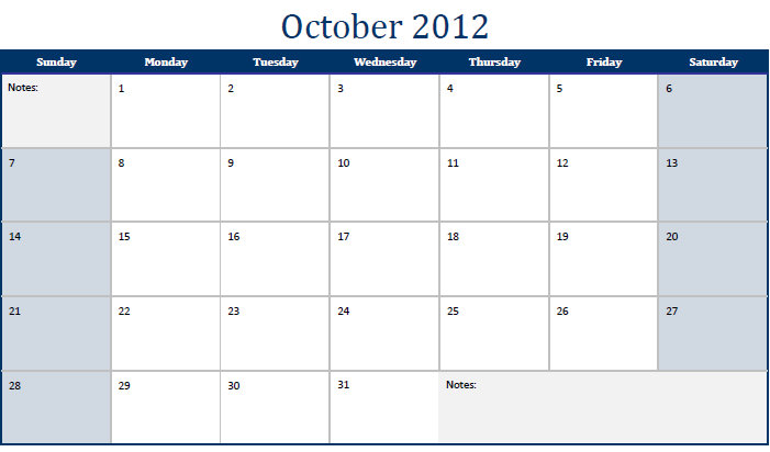 weekly calendar template print out .