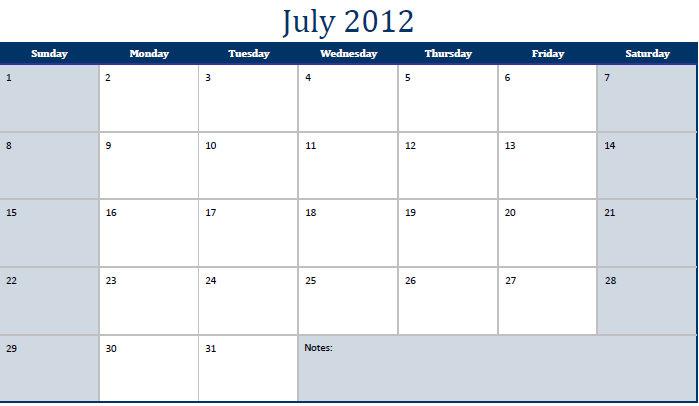 Pdf July 2012 Calendar Pdf July 2012 Calendar