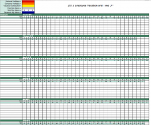 2013 employee vacation tracking calendar for excel