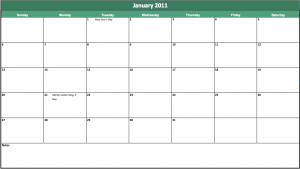 free 2013 holiday calendar