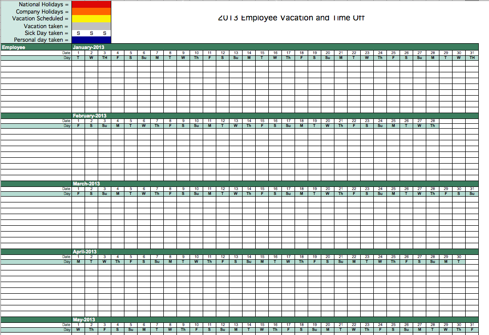 employee spreadsheet template
